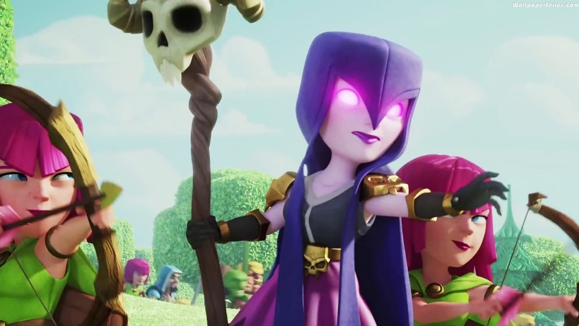 Clash Of Clans Witch Wallpaper witch -in- clash -of- clans - ...