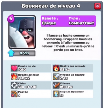 Bourreau nouvelle carte epique clash royale sneak peek