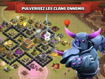 Clash of clans jeu mobile ios android detruire clan ennemi