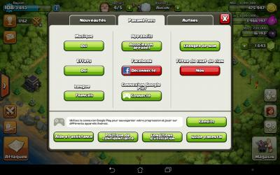 Clash of clans parametres
