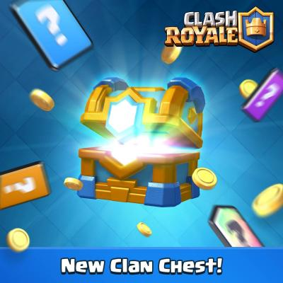 Coffre de clan couronne clash royale sneak peek