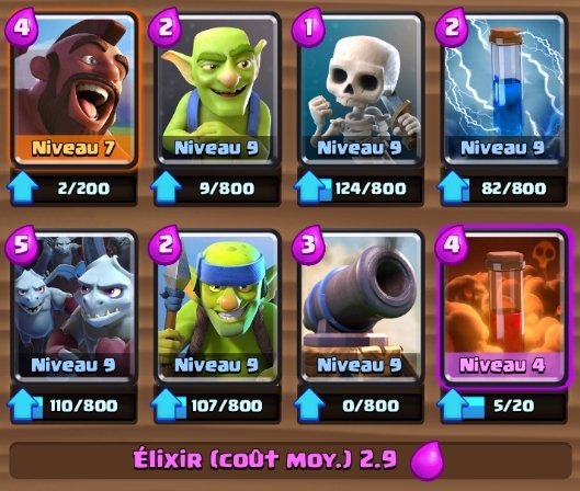 Deck cochon poison arene legende clash royale francais