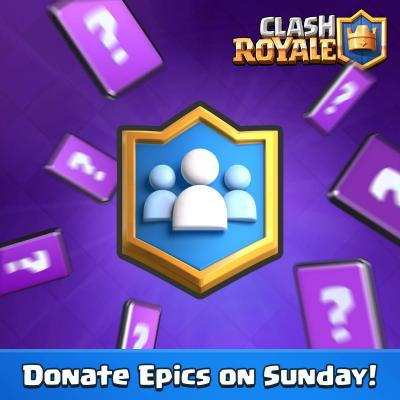 Don carte epique dimanche clash royale sneak peek