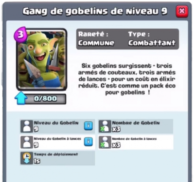 Gang gobelin nouvelle carte commune clash royale sneak peek