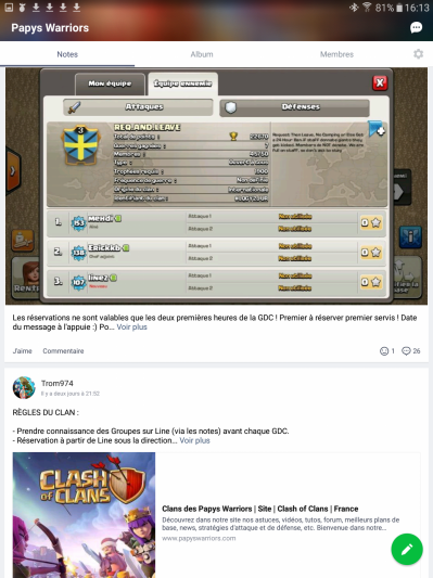 Line &  Skitch  (2 applications indispensables)  Line-note-clash-of-clans-papys-warriors