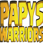 Logo papys warriors communaute jeux video mobile carre