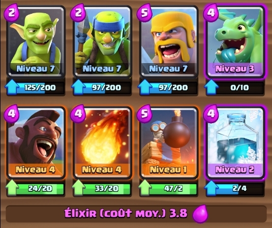 Meilleurs decks clash royale papys warriors for Deck arene 5 miroir