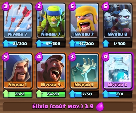 Meilleur deck possible arene 6 gael2toulon