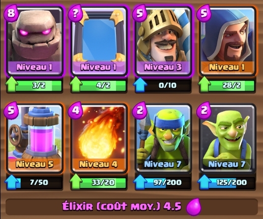 Meilleur deck rush facile arsenik clash royale