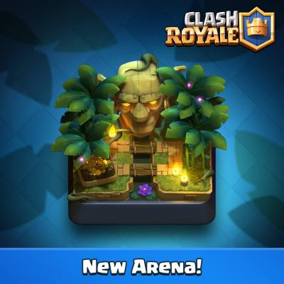 Nouvelle arene clash royale jungle sneak peek