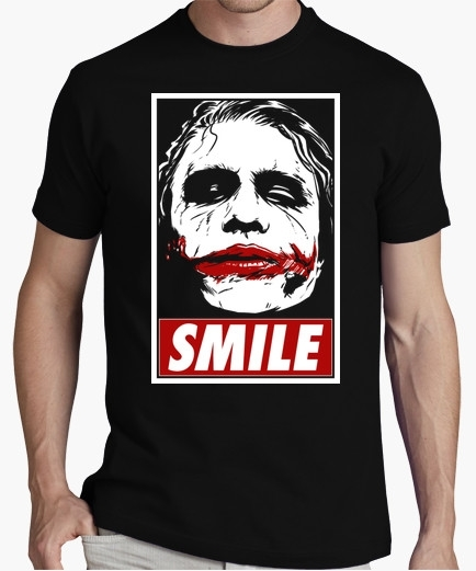 T shirt smile joker dark knight batman