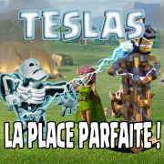 Tesla camouflee astuce placement logo clash of clans