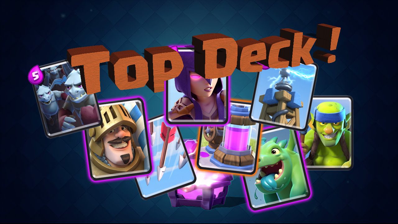 Top deck arene 7 rayven clash royale