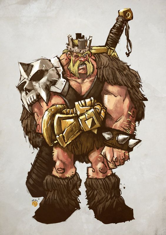 fan art barbarian king clash of clans