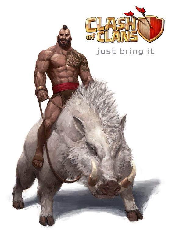 fan art hog rider clash of clans