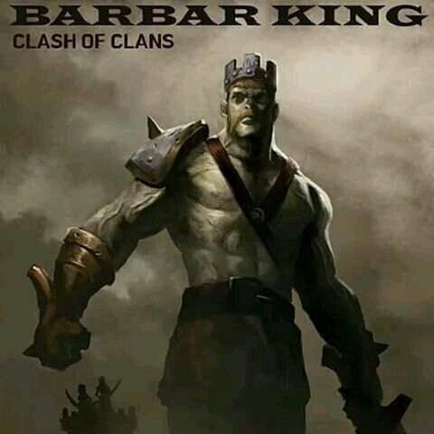 fan art king barbarian clash of clans