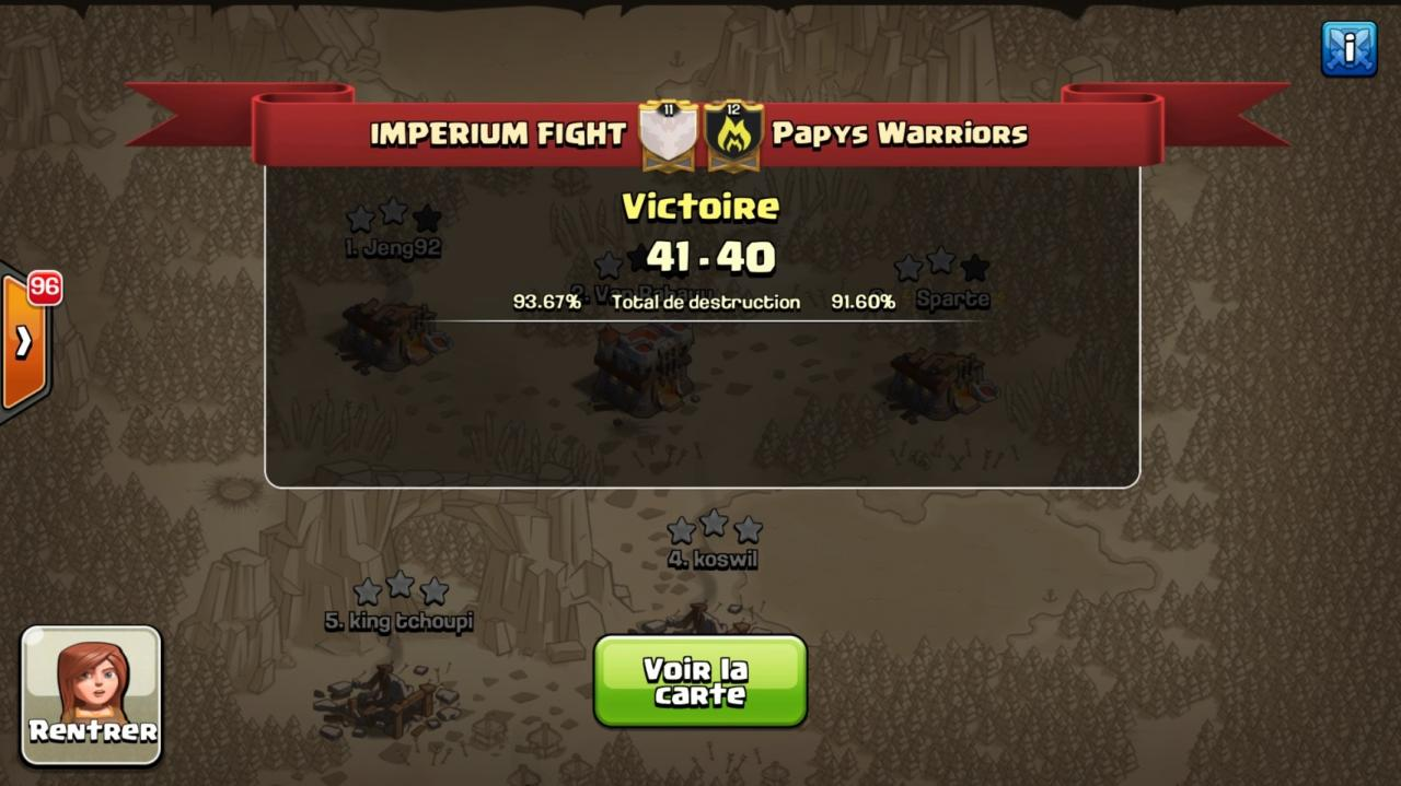IMPERIUM FICHT vs Papys Warriors tournoi FF 2 CoC