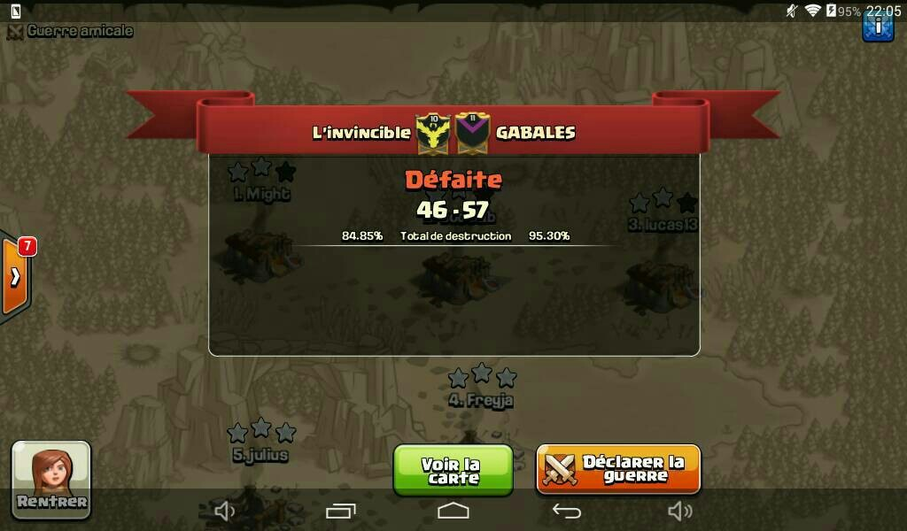 L'invincible vs GABALES tournoi FF 2 CoC
