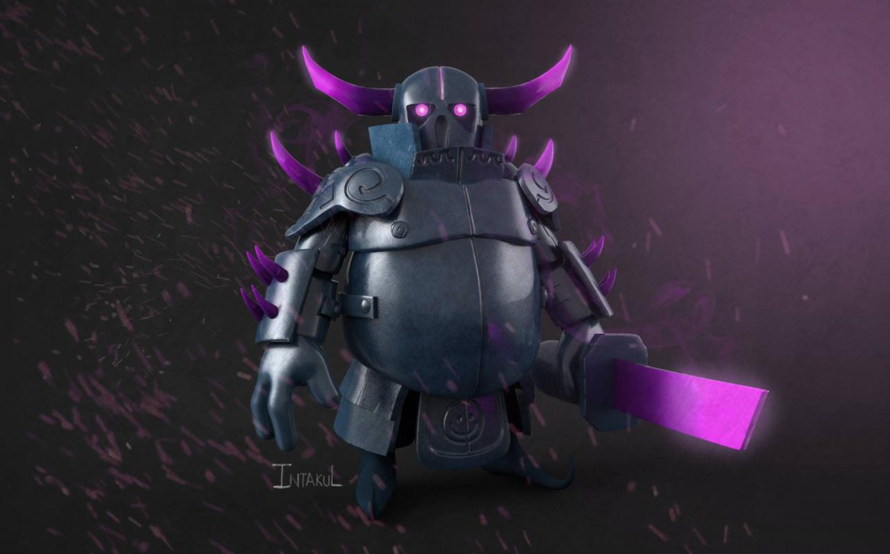 PEKKA Sasawat Intakul Clash of Clans fan art