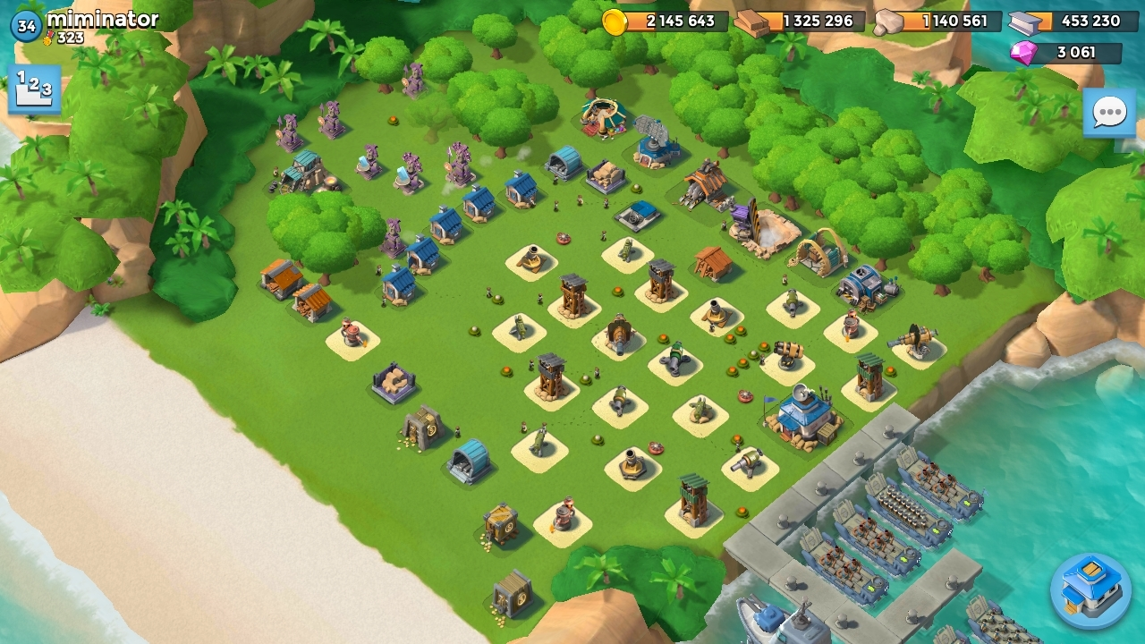 QG 14 Base Miminator Boom Beach