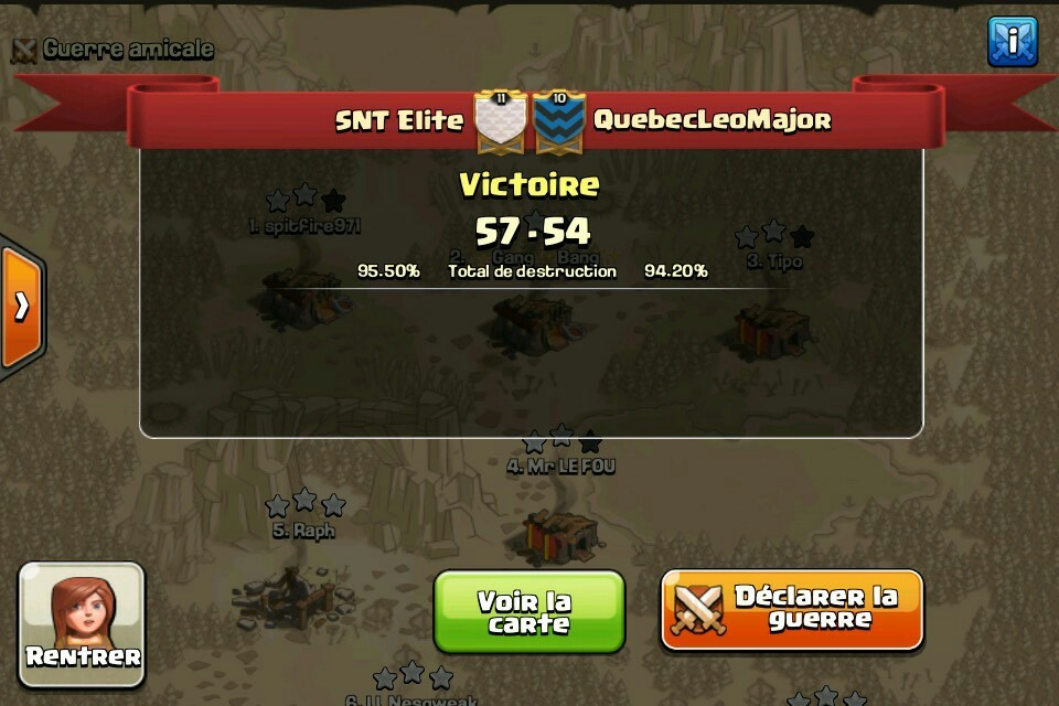 SNT Elite vs QuebecLeoMajor tournoi FF 2 CoC