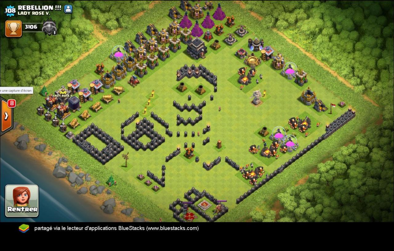 Village fun sapeur CoC