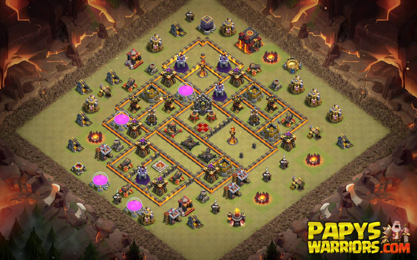 WAR BASE TH10 PAPYS WARRIORS 1