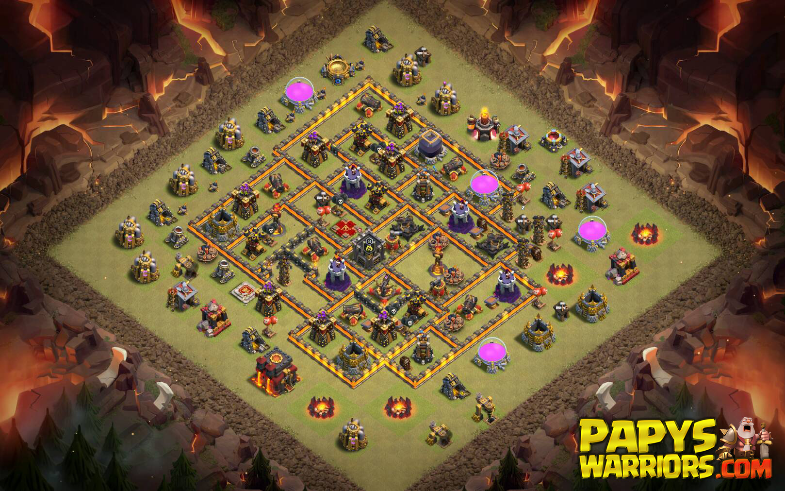 WAR BASE TH10 PAPYS WARRIORS 2
