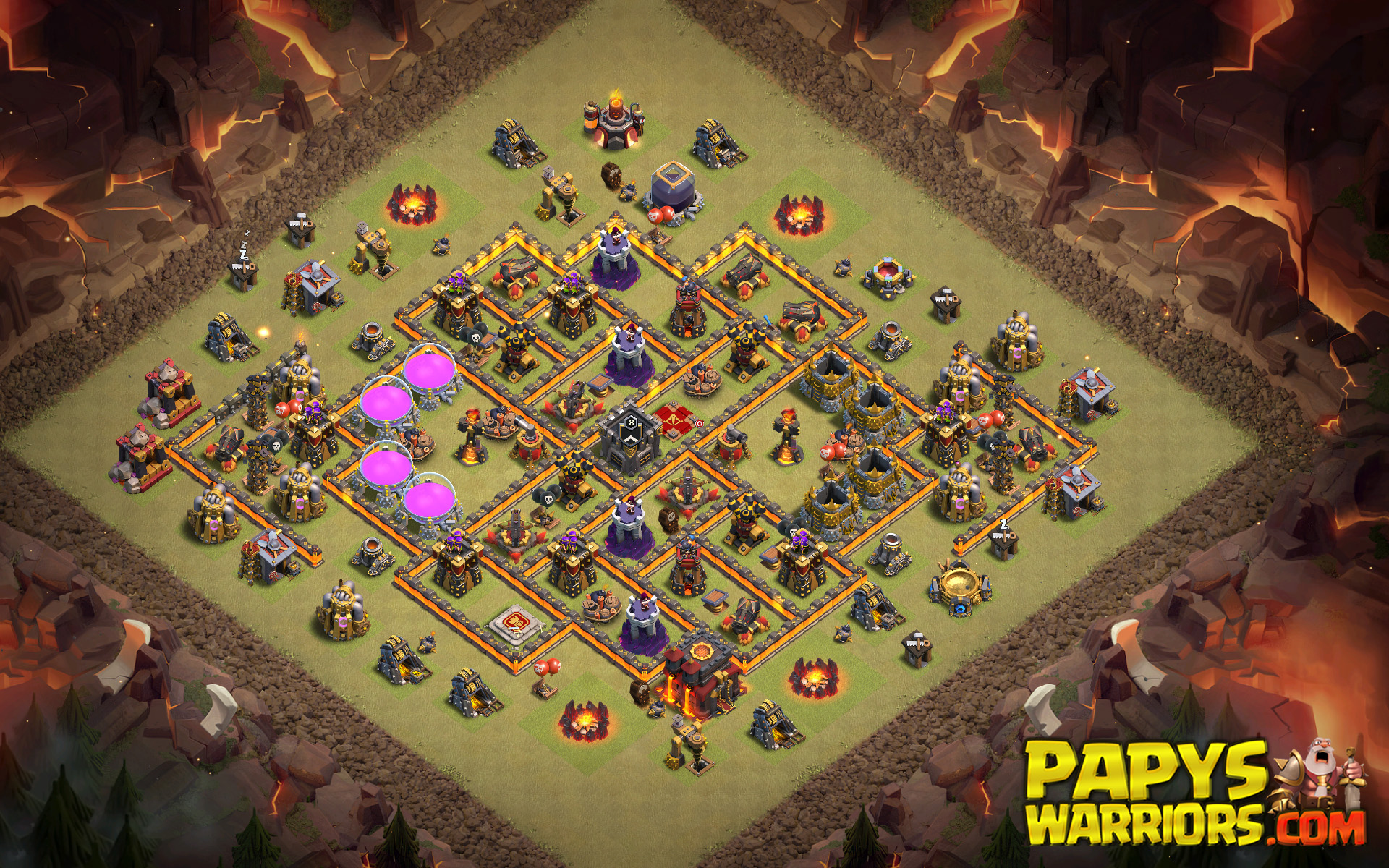 WAR BASE TH10 PAPYS WARRIORS 5
