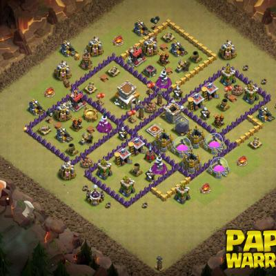 WAR BASE TH8 PAPYS WARRIORS 1