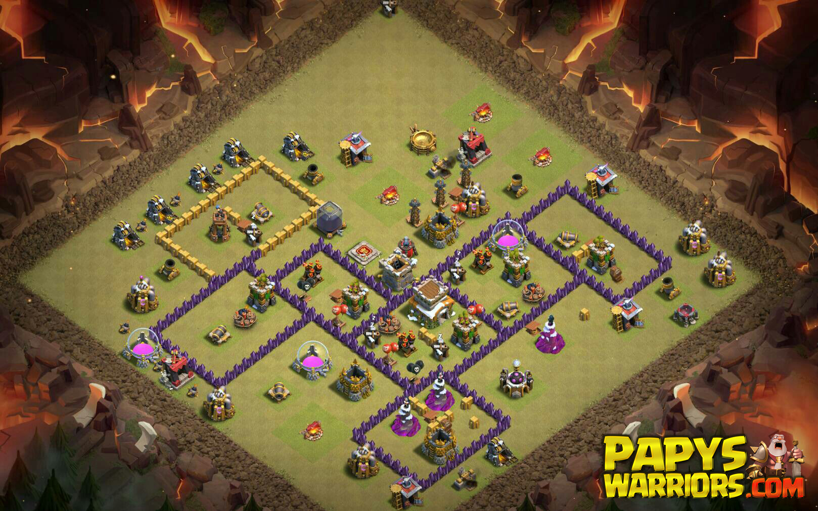 WAR BASE TH8 PAPYS WARRIORS 2