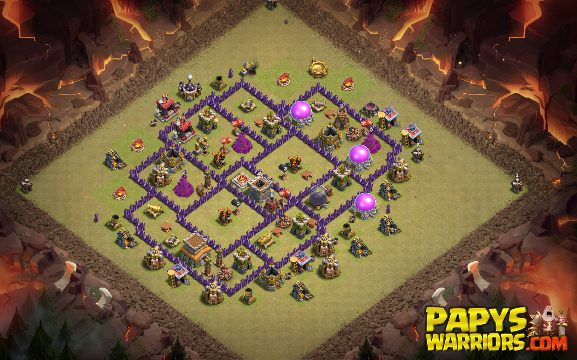 WAR BASE TH8 PAPYS WARRIORS 3