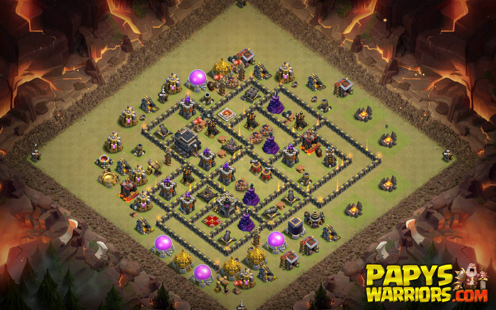 WAR BASE TH9 PAPYS WARRIORS 1