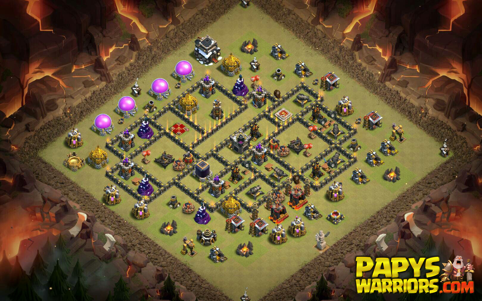 WAR BASE TH9 PAPYS WARRIORS 12