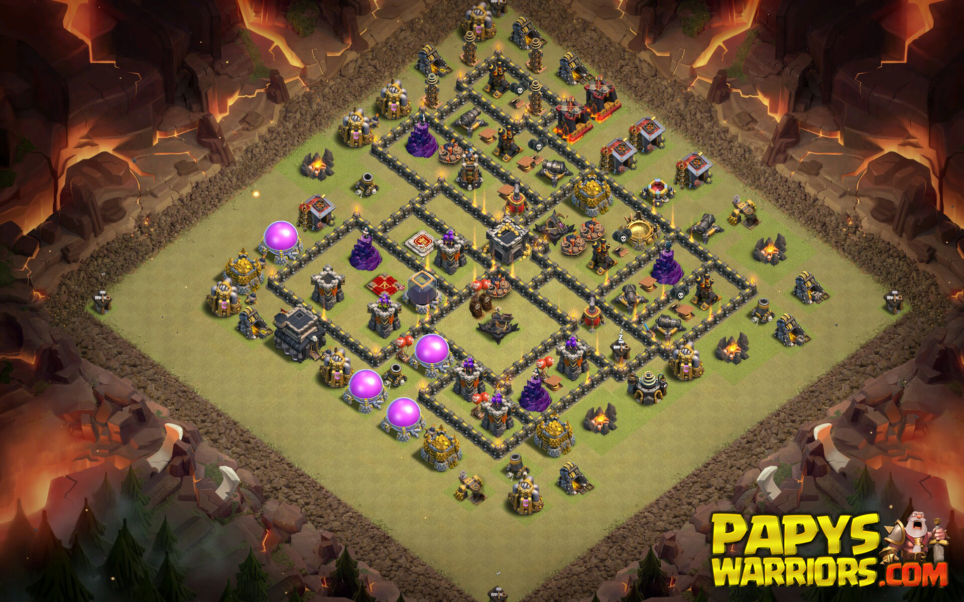 WAR BASE TH9 PAPYS WARRIORS 14