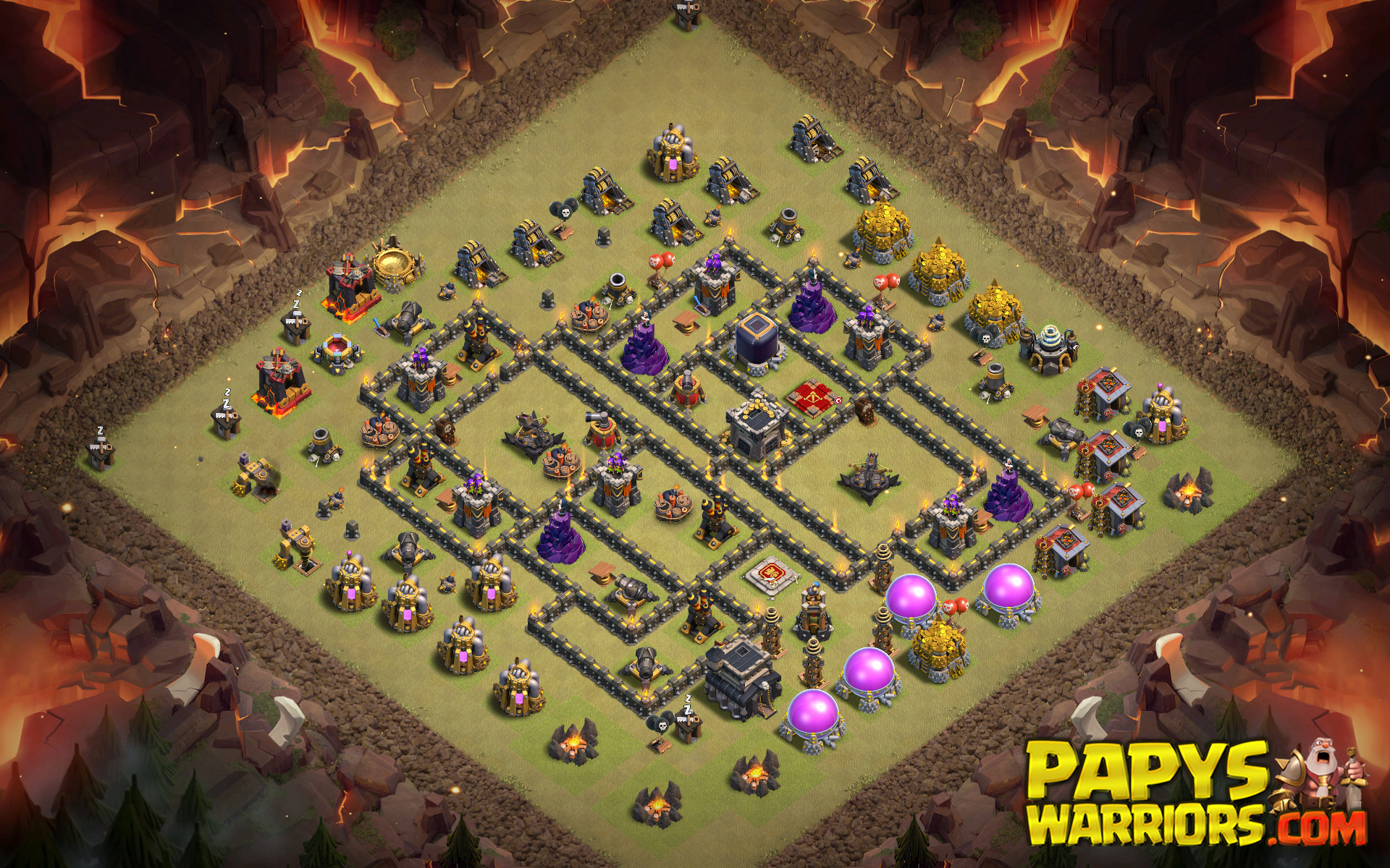WAR BASE TH9 PAPYS WARRIORS 18