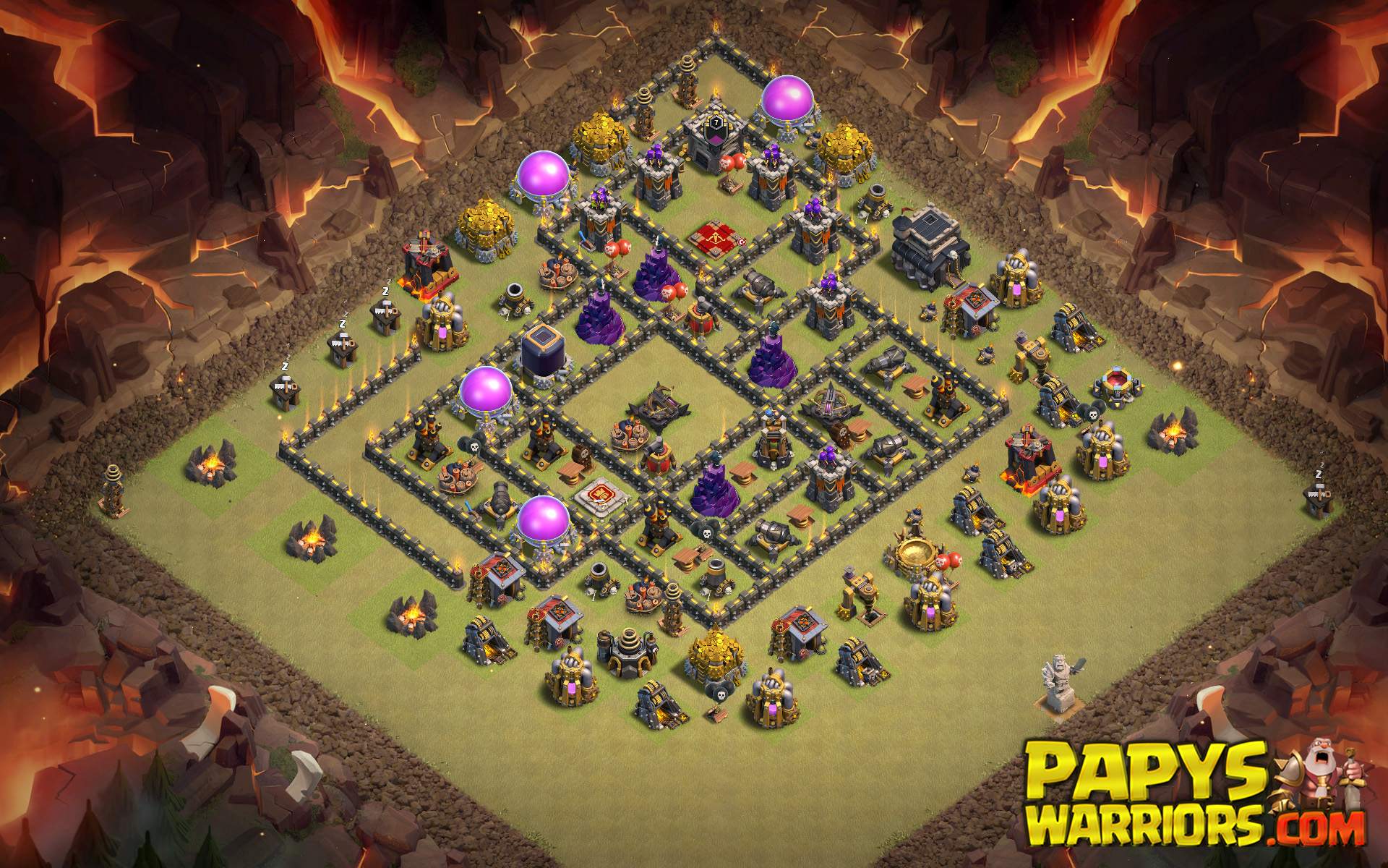 WAR BASE TH9 PAPYS WARRIORS 19