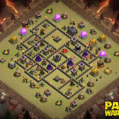 WAR BASE TH9 PAPYS WARRIORS 2