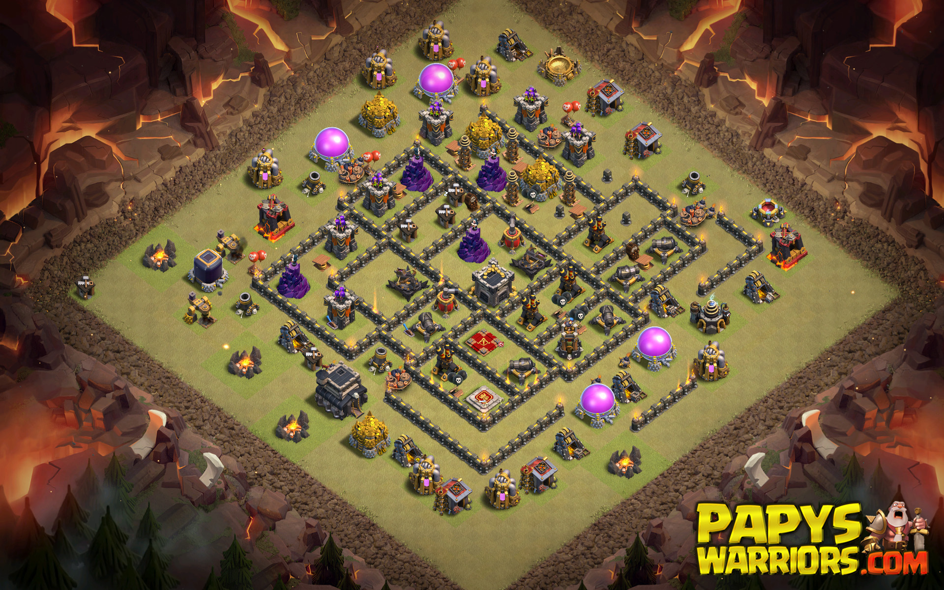 WAR BASE TH9 PAPYS WARRIORS 21