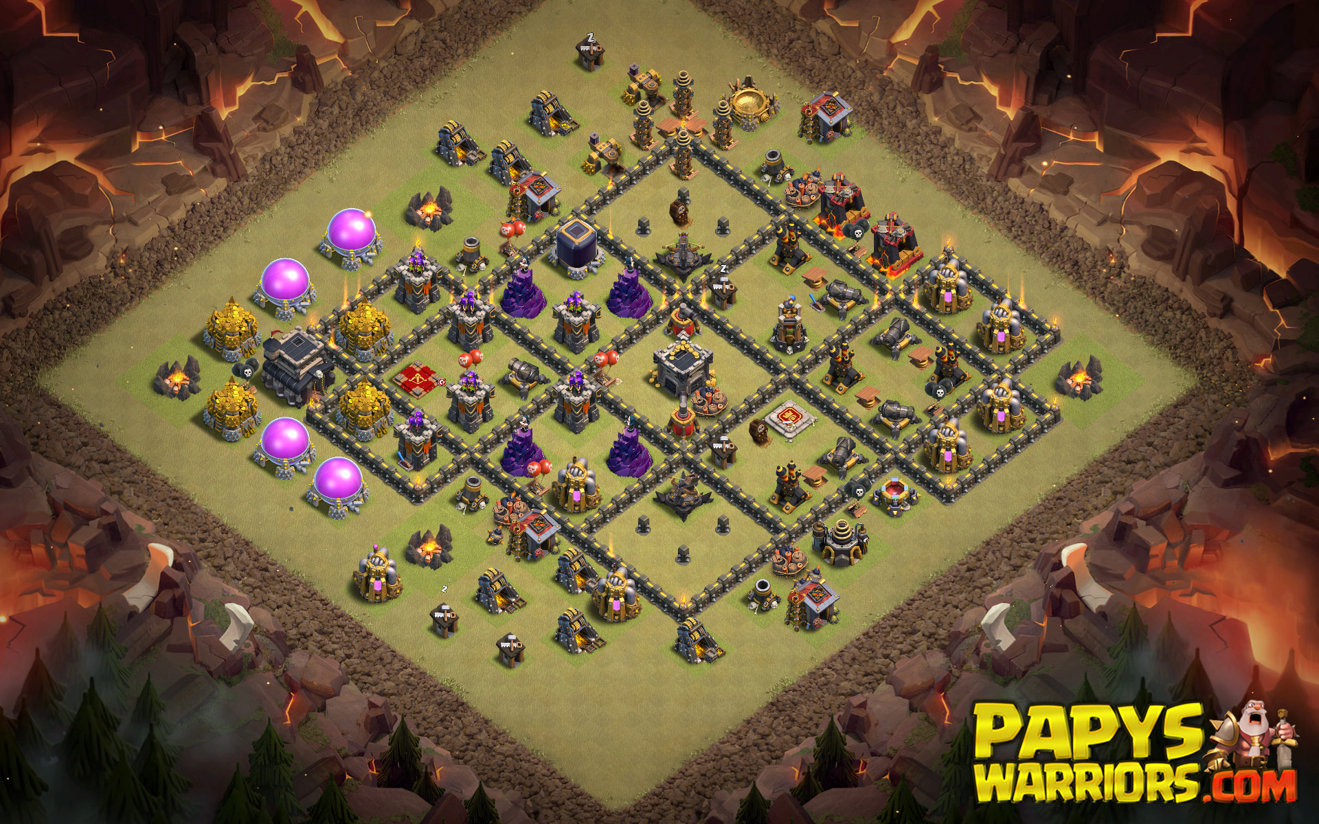 WAR BASE TH9 PAPYS WARRIORS 23