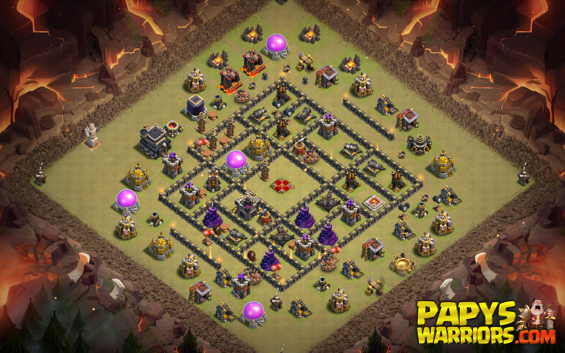 WAR BASE TH9 PAPYS WARRIORS 25