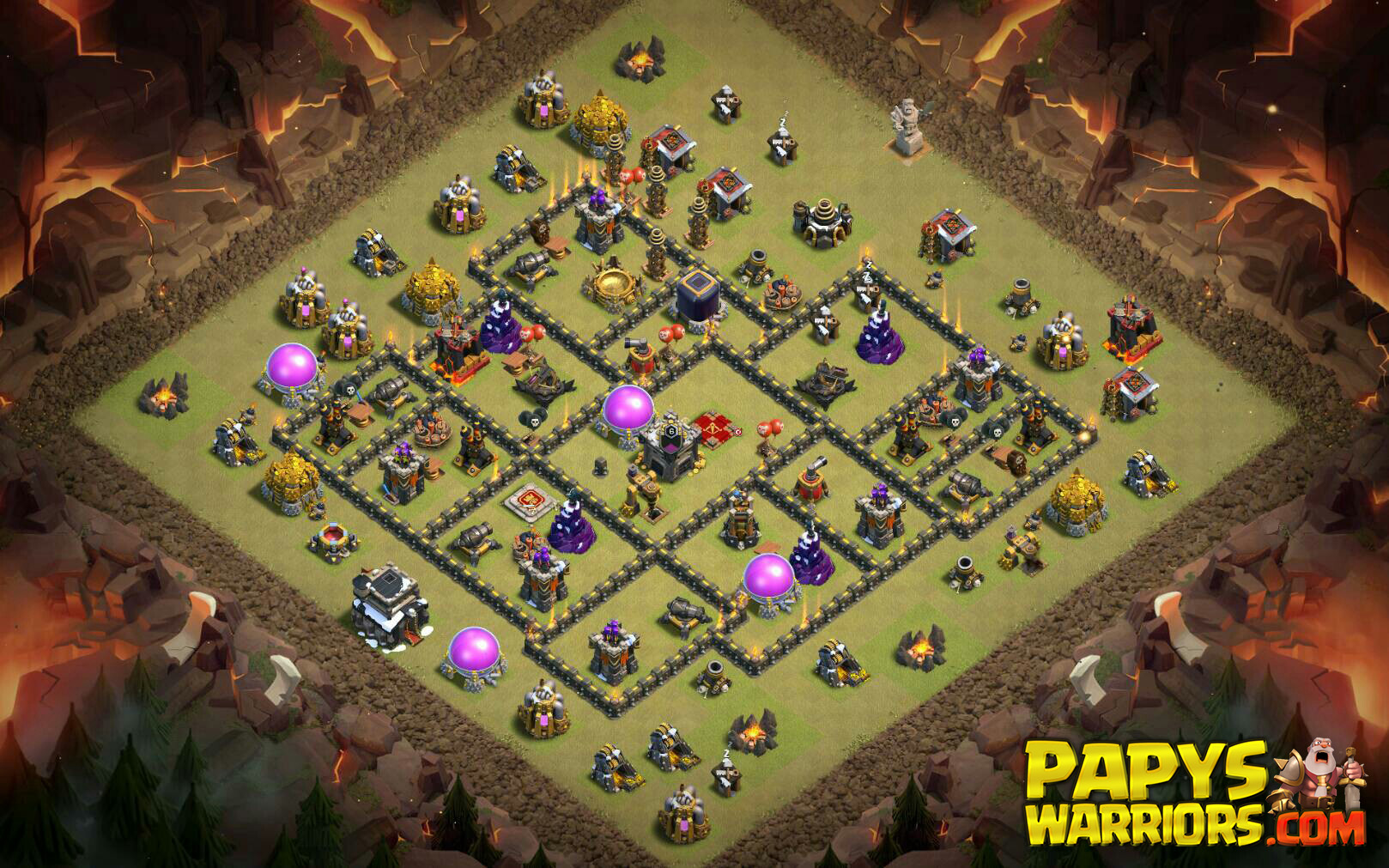 WAR BASE TH9 PAPYS WARRIORS 9
