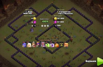3 etoile total damage compo gdc hdv 11 bouliste fee clash of clans