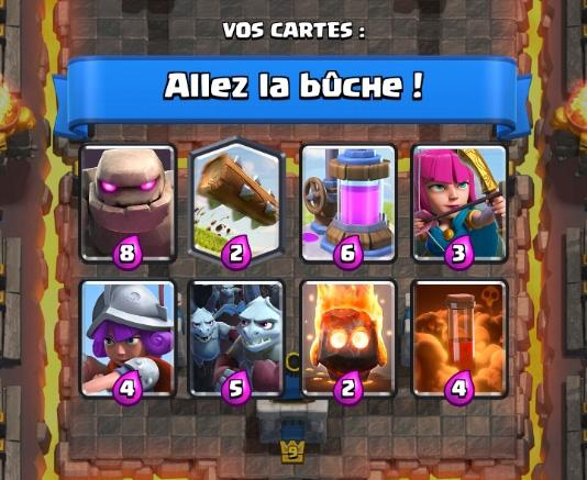 Allez la buche deck 3 coupe roi clash royale