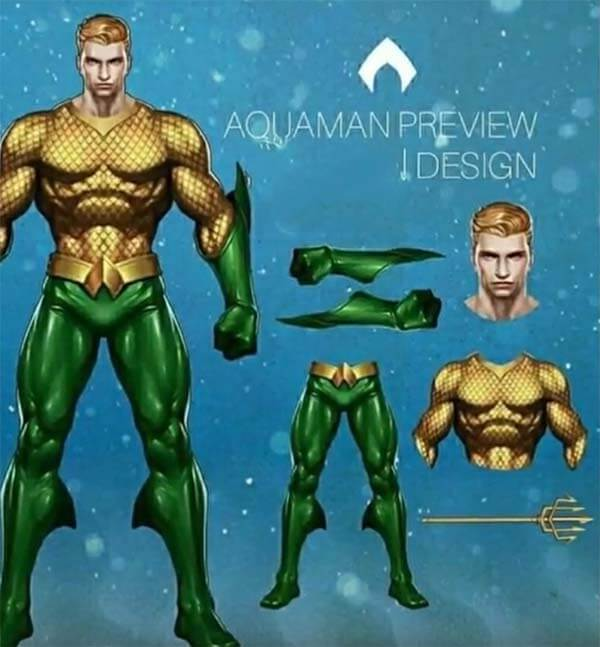 Aquaman preview design arena of valor