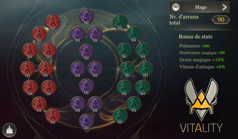 Arcana mage build vitality arena of valor