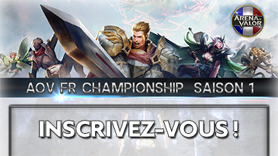 Arena of valor france championnat inscription s1