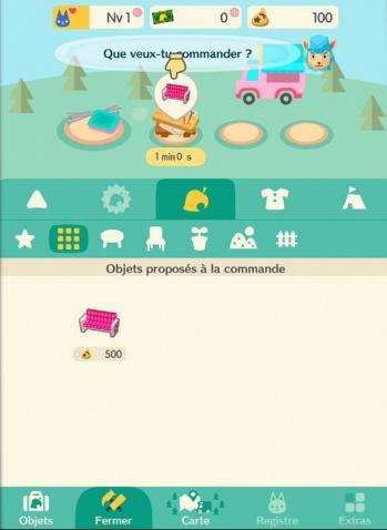 Artisanat canape coeur capture animal crossing pocket camp