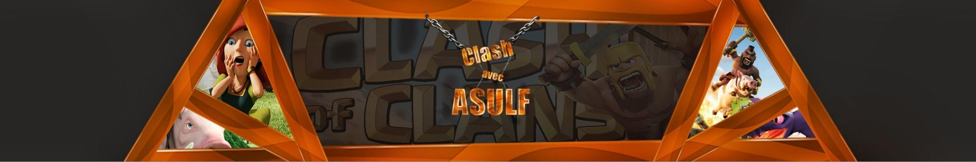 Asulf image illustration youtubeur clash of clans royale