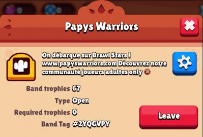 Bande papys warriors brawl stars